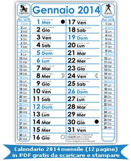 Calendario annuale 2014 da stampare - marbaro.it