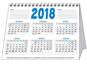 Immagine del calendario da tavolo annuale