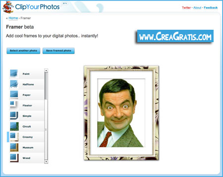 Cornici per foto digitali inserirle online gratis e for Foto cornici online