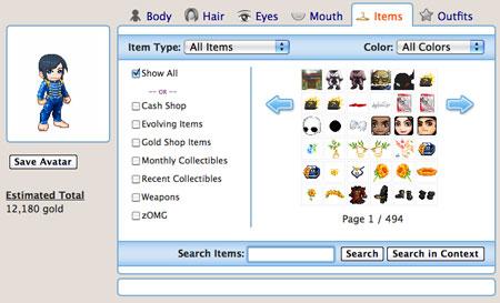 Creare avatar gratis con Tektek
