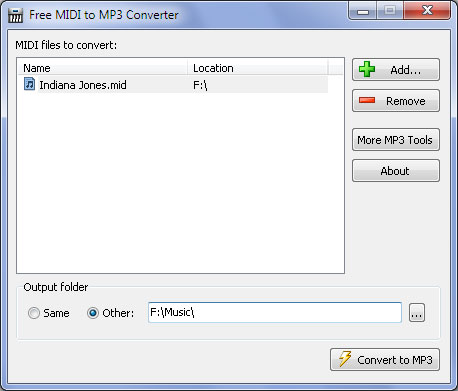 Programma per convertire MIDI in MP3