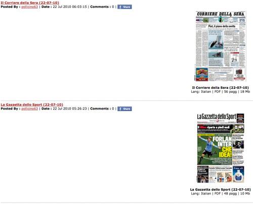 Scaricare quotidiani e riviste gratis