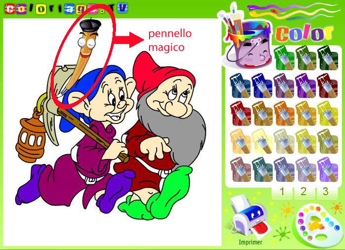 Disegni di animali e cartoni animati da colorare