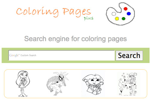 Motore di ricerca di disegni per bambini