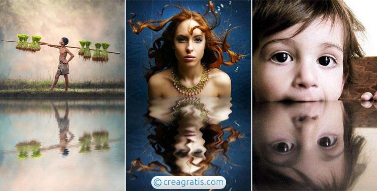 Applicare l'effetto specchio riflesso alle foto online