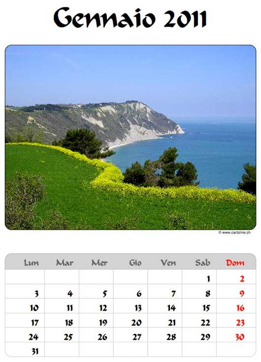 Esempio di calendario 2011 in PDF