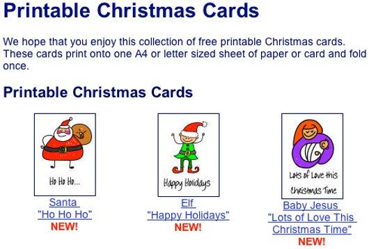 Cartoline di auguri di Natale