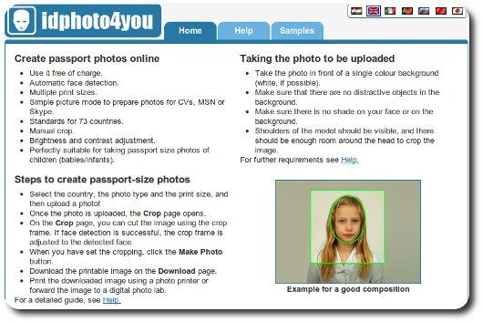Primo sito per creare fototessere