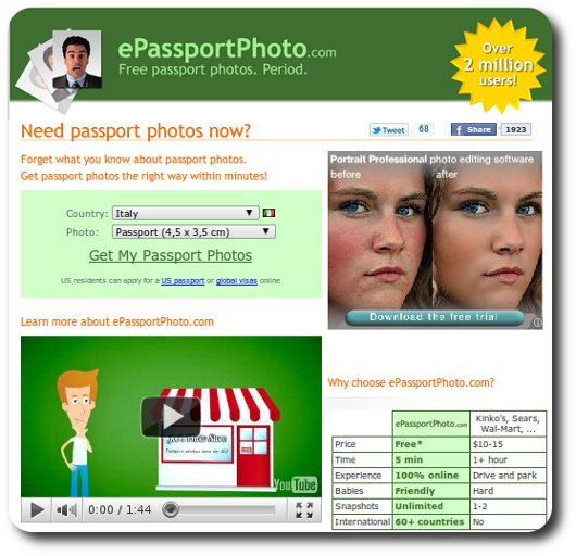 Terzo sito per fare fototessere online