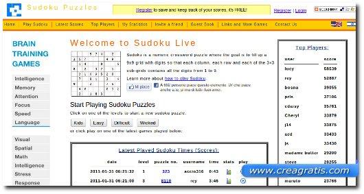 Sudoku da giocare Gratis
