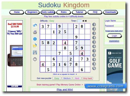 Siti per giocare a Sudoku