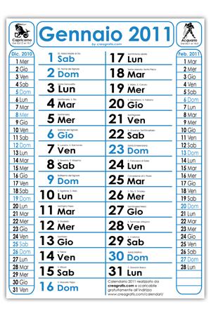 Calendario 2011 con santi