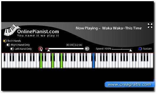 Guardare il movimento dei tasti del pianoforte