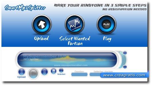 Creare Suonerie con file MP3