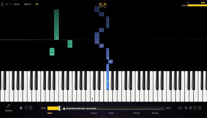 Imparare a suonare il pianoforte con il movimento dei tasti