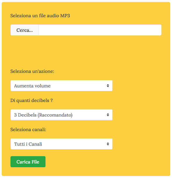 Sito per aumentare il volume degli MP3 online