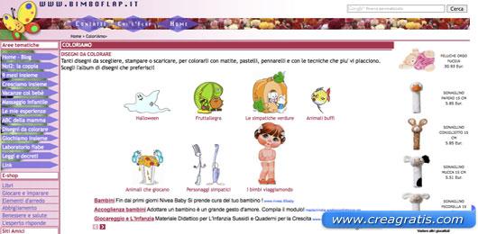Secondo sito con disegni da colorare