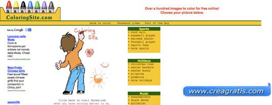Quinti sito con disegni da colorare