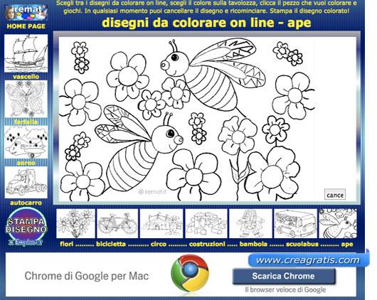 Quarto sito con disegni da colorare