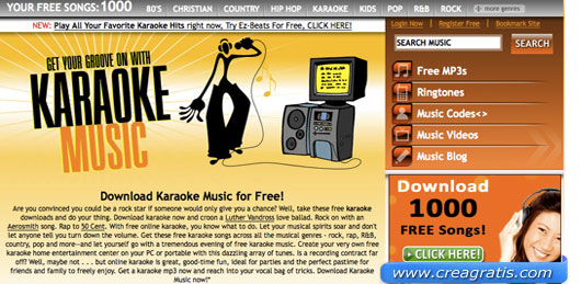 Sito con basi per Karaoke