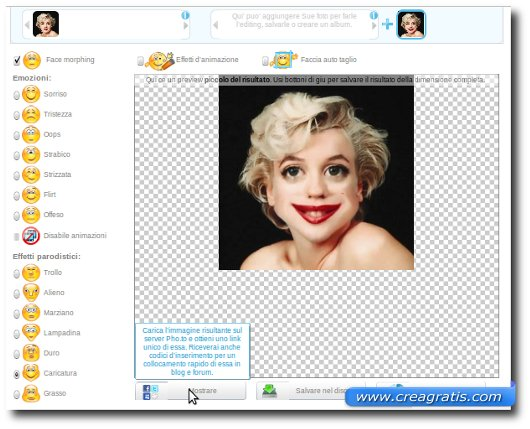 Creare una caricatura della propria foto