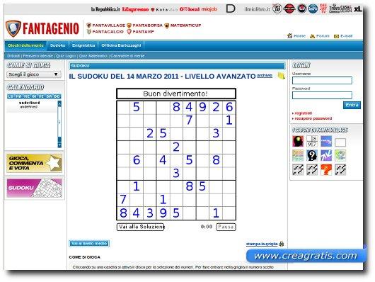 Terzo sito per giocare a sudoku online
