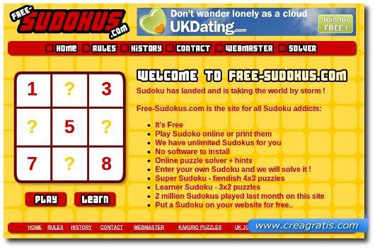 Quarto sito per giocare a sudoku online
