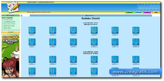 Sito per giocare a sudoku online