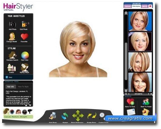 Applicazione prova taglio capelli gratis