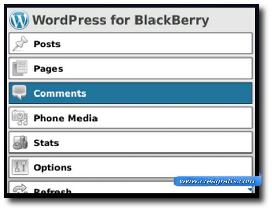 Wordpress per Blackberry