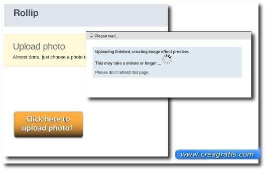 Scelta della foto alla quale applicare l'effetto