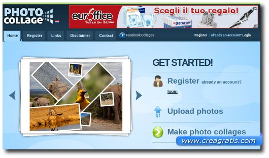 Photo collage sito per fare collage di foto online for Collage foto online gratis italiano