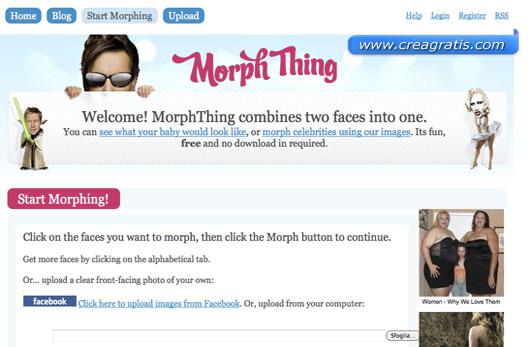 Fotomontaggio di morphing tra due visi