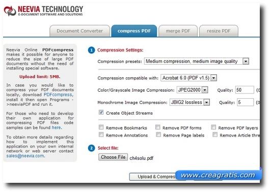 Neevia's PDF Compress