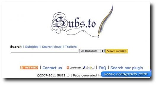 Terzo sito per scaricare sottotitoli