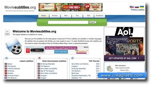 Quarto sito per scaricare sottotitoli