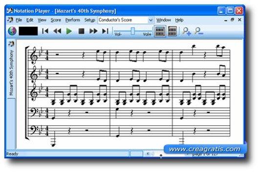 Programma per spartiti musicali