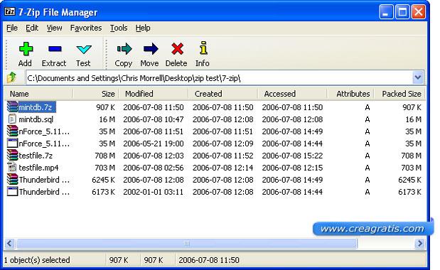 7-Zip in alternativa a WinZip e WinRar