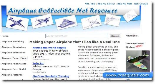 Quarto sito per imparare a costruire aerei di carta
