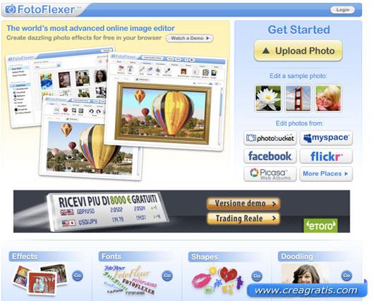 Secondo sito per modificare foto con effetti