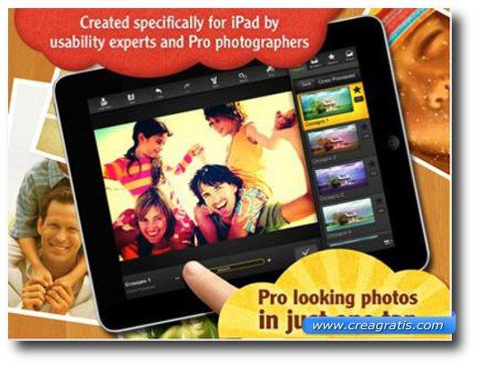 Ottava Applicazione per iPad 2 per foto e fotomontaggi