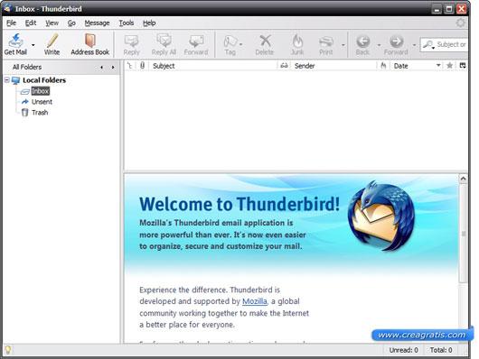 Mozilla Thunderbird in alternativa a Windows Live Mail
