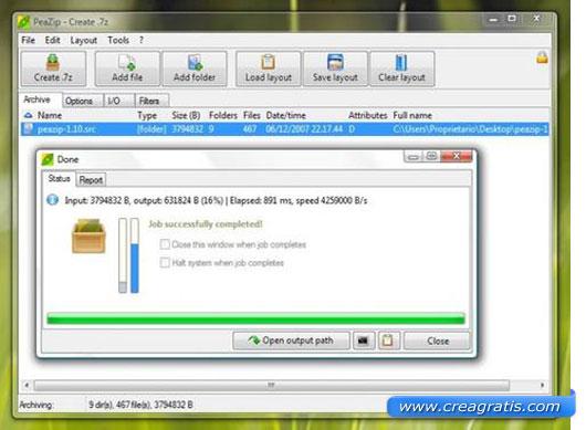 Quarto programma per la compressione dei file