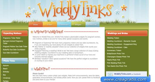Interfaccia sito per creare biglietti di auguri o di inviti