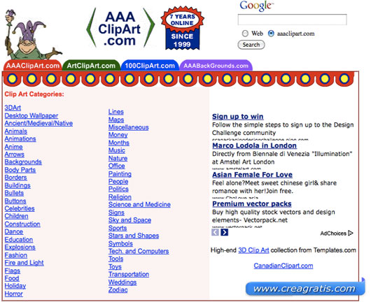 Primo sito per scaricare clipart gratis