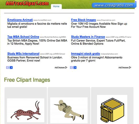 Ottavo sito per scaricare clipart gratis