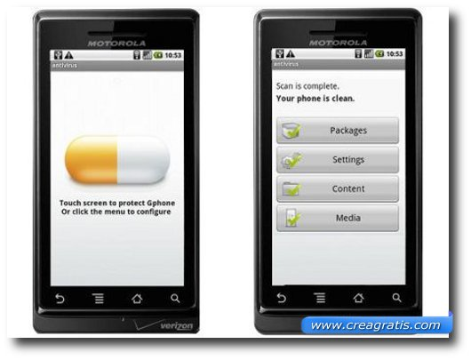 Sesto antivirus per cellulari Android