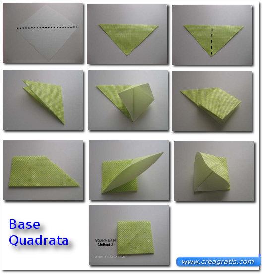 Istruzioni per creare una base quadrata per la rosa