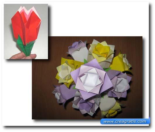 Istruzioni per fare un mazzo di rose di carta