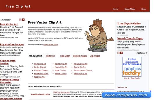 Terzo sito per scaricare clipart gratis